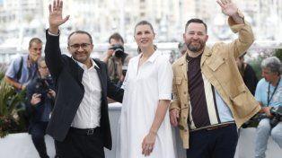 alfombra roja. El director ruso Andrei Zviaginstev junto a las estrellas de su filme