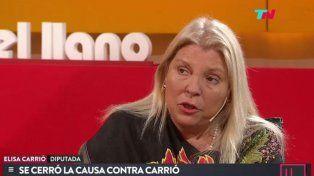 Carrió denunció a Lorenzetti de querer aspirar al cargo de Macri en caso de un golpe civil