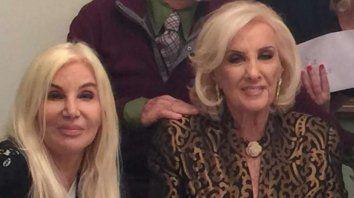 Susana y Mirtha pasaron juntas la tarde del domingo.