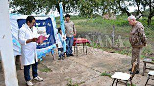 El acto unipersonal por el 25 de Mayo en la escuela del paraje Palma Mota, en Formosa.