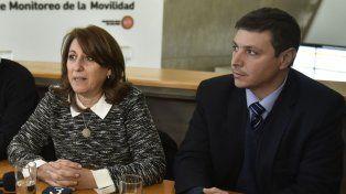 La intendenta Fein junto al secretario de Gobierno municipal, Gustavo Leone.