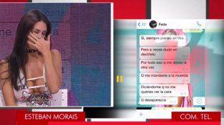 Escándalo en vivo con Flor Marcasoli: llanto, gritos y chats privados con Fede Bal