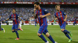 Leo Messi fue la figura destacada de Barcelona en la final frente a Alavés.
