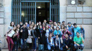 Comitiva. Representantes de Unicef y del gobierno chileno, en Rosario