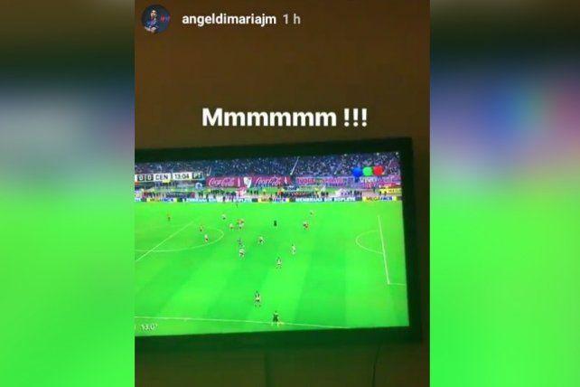 Captura de la imagen que subió Di María en las Instagram Stories.