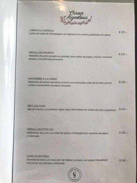 Fuertes críticas a un restaurante donde los cortes de carne tienen nombres de vedettes y modelos