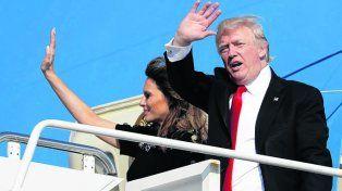de vuelta. Trump regresó de su primera gira. La economía lo esperaba.