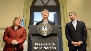 el anuncio. Malcorra, el primer mandatario y Peña oficializaron los cambios en Relaciones Exteriores.
