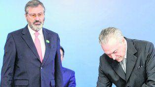 un amigo. Temer tomó juramento a Torquato Jardim, quien es el tercer ministro de Justicia en un año.