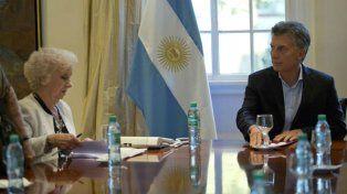 Estela de Carlotto y el presidente Mauricio Macri.