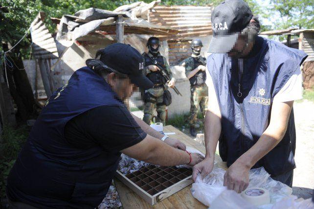 Secuestro de cocaína. Uno de los procedimientos judiciales realizados en la zona sur.