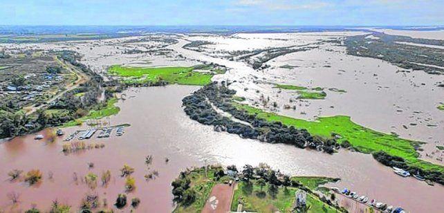 Crecida y temores. El río Uruguay