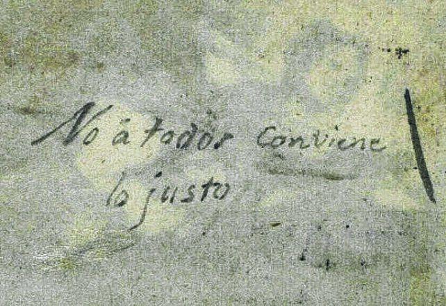 no a todos conviene lo justo. El título del manuscrito.