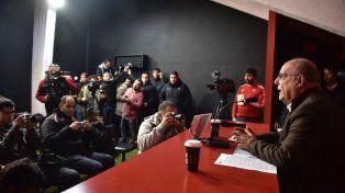 Eduardo Bermúdez durante la rueda de prensa esta mañana.