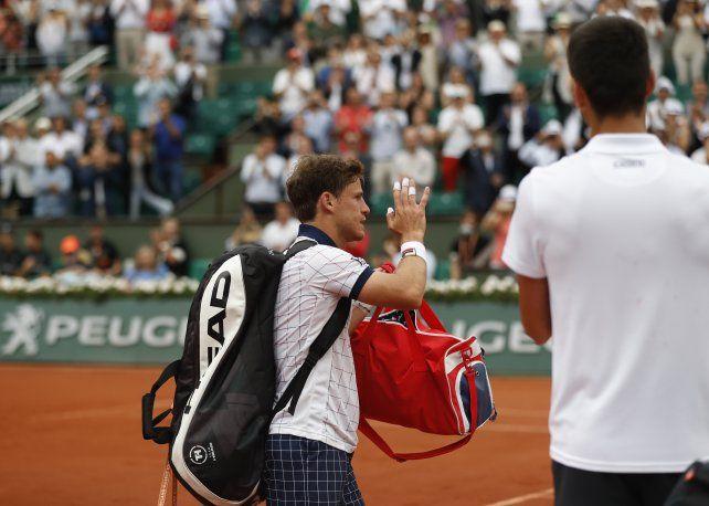 Schwartzman jugó un partidazo ante Djokovic, que le ganó pero terminó aplaudiéndolo