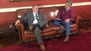 Mano a mano. Broglia brindó una entrevista exclusiva para La Capital y se transmitió por Facebook Live.