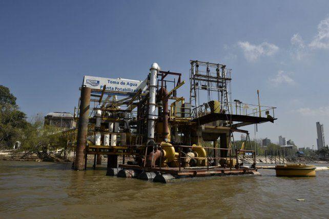 Toma. Uno de los equipos que capta agua para la planta potabilizadora de Assa