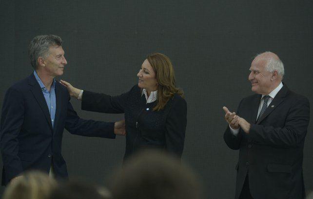 Acercamiento. Macri y Fein buscan limar asperezas políticas.