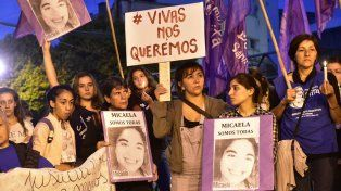Otro reclamo. Una protesta de abril pasado en la plaza Montenegro.