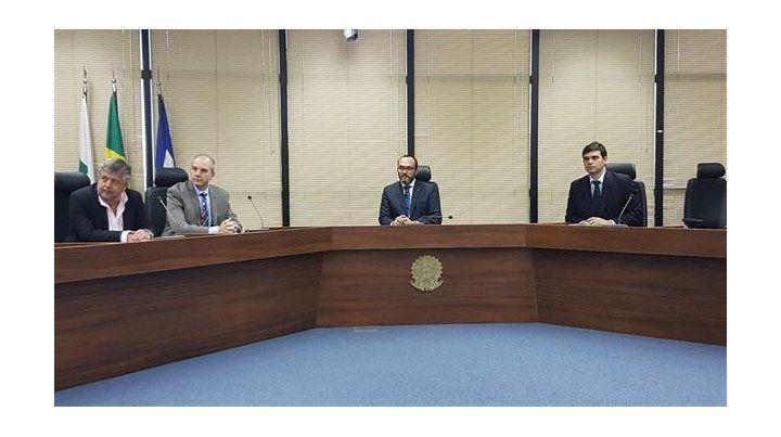 Fiscales. Stornelli y Rodríguez encabezaron las tratativas en Brasil.