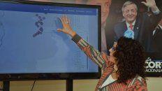 Norma López presentó el mapa interactivo con los femicidios en todo el país.