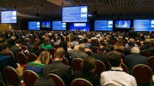 Especialistas. La conferencia de Asco desarrollada ayer en Chicago.