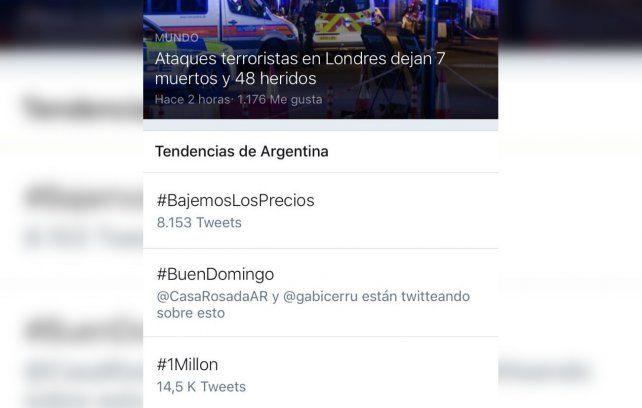 {altText(#BajemosLosPrecios otra vez fue tendencia en Twitter.,La campaña #BajemosLosPrecios inunda las redes y sumó un millón de firmas)}