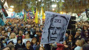 La última movilización realizada en la plaza 25 de Mayo contra la aplicación del 2x1.