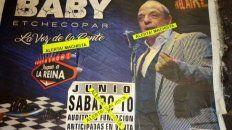 cancelaron el show de baby etchecopar en rosario por sus dichos misoginos