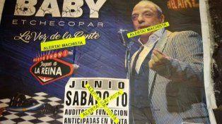 Cancelaron el show de Baby Etchecopar en Rosario por sus dichos misóginos