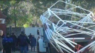 El desalojo de un predio en el exBatallón 121 terminó con incidentes
