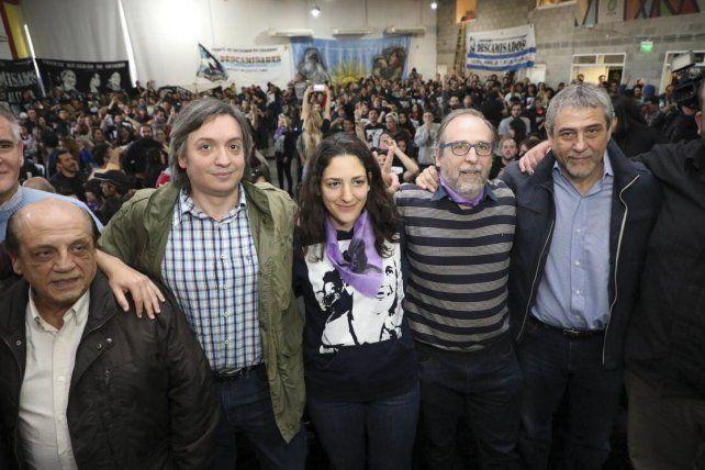 El diputado nacional del Frente para la Victoria Máximo Kirchner encabezó hoy un acto en el partido bonaerense de Avellaneda.