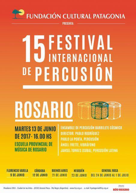 Festival Internacional de Percusión llega a Rosario