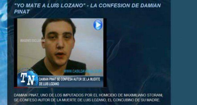 El video de la falsa confesión de Pinat no llegó a la Justicia pero circuló por internet y por distintos medios de comunicación de Casilda.