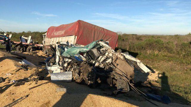 El choque se registró en la autopista a Santa Fe.