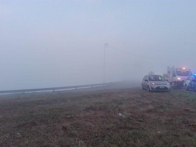La densa niebla de esta mañana fue uno de los factores que contribuyó al siniestro.