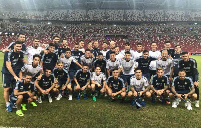 Con goles para todos los gustos, la selección venció fácilmente por  6 a 0 a Singapur