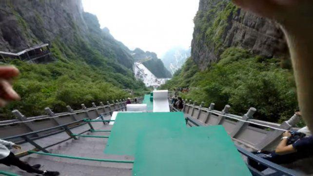 La montaña china de Tianmen