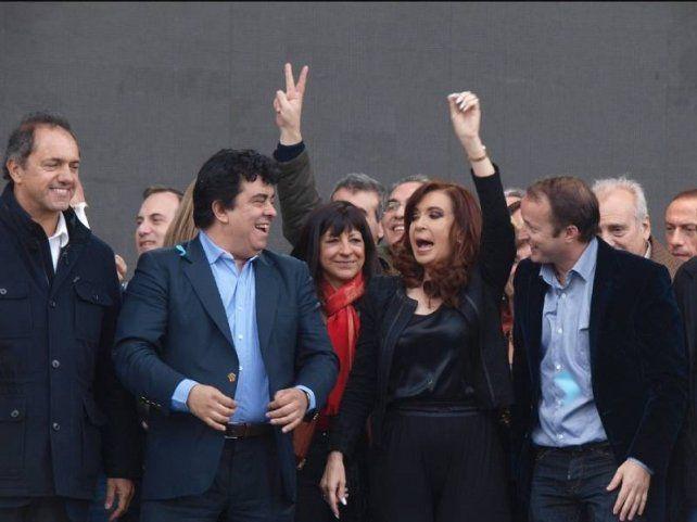 Cristina junto a Scioli