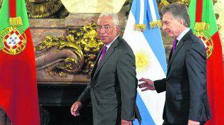 amigo lusitano. Macri y Antonio Costa