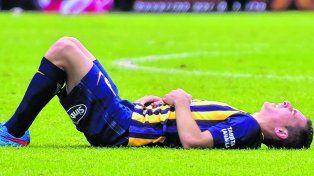Mi pie izquierdo. Marco Rubenserá operadomañana deun sobrehuesoy se pierde lo queresta del torneo.