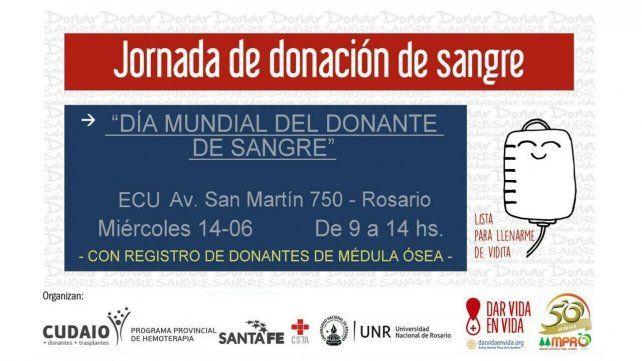 Realizan hoy una jornada de donación de sangre en el ECU