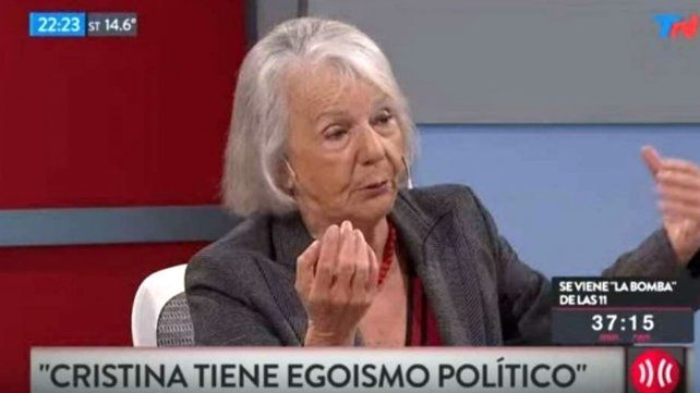 Beatriz Sarlo dijo que sea o no candidata, este es el final político de Cristina