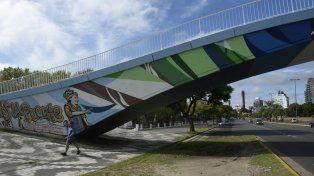 La intervención cultural sobre los puentes del parque Alem