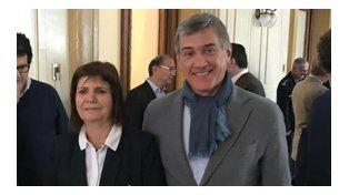 encuentro. Bullrich y Boasso dialogaron el miércoles en Rosario.