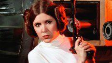 Carrie Fisher como La princesa Leia en Star Wars, el personaje que la catapultó al éxito.