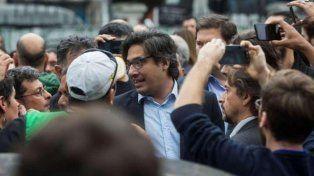 Cara a cara. Un grupo de sindicalistas de ATE irrumpió en un acto de Garavano en la ex Esma.