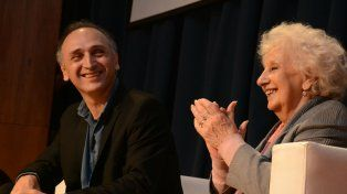 Panel. Rosúa y la titular de Abuelas en la conferencia 41 años de lucha.