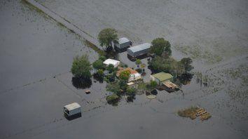 Saturados. Al subir las napas, los suelos han perdido la capacidad de regular los excesos hídricos.