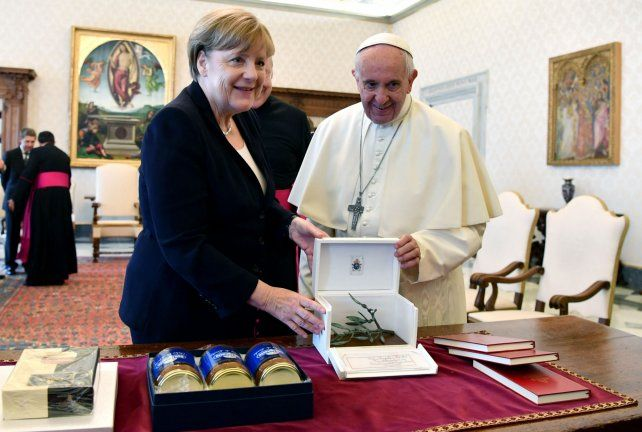 Angela Merkel visitó al Papa Francisco.